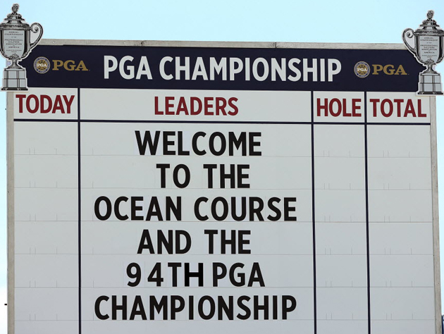 Welcome to the PGA Championship. — Getty Images