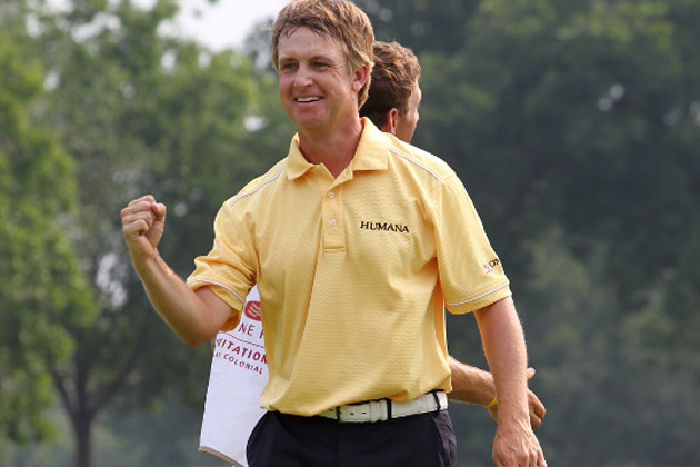 David Toms' reaction to Busbee picking him this week? Pure, unadulterated joy. — Getty Images