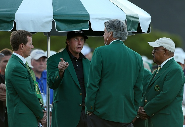 The convergence of the Green Jackets. (Getty Images)