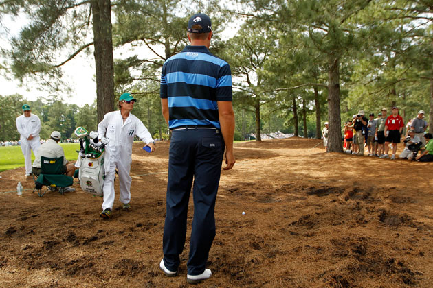 Henrik Stenson was in the woods at 15, but the worst still lay ahead. (Getty Images)