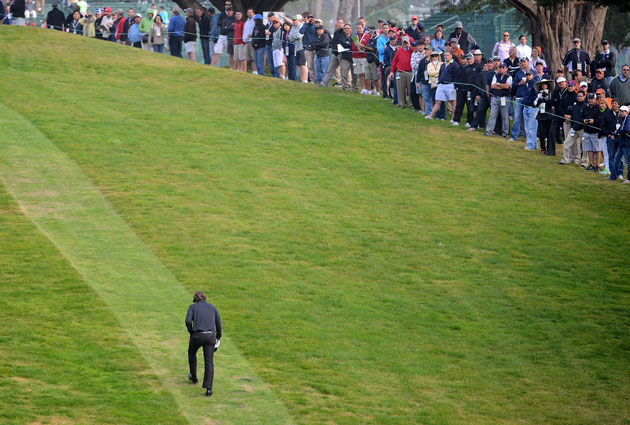 It's never good when you're walking the wrong way on a golf course. (Getty Images)