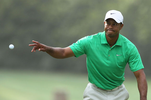 Not even Jedi ball-levitating tricks could save Tiger on Saturday. (Getty Images)