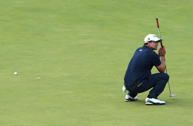 The 2012 British Open just slipped from Adam Scott's grasp. (Getty Images)