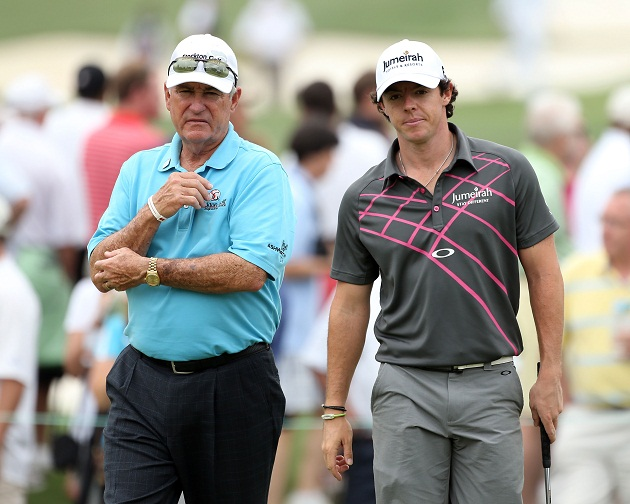 Dave Stockton and friend at the Masters earlier this year. (Getty Images)