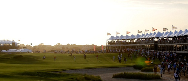 Kiawah Island's Ocean Course on Friday afternoon. (Getty Images)