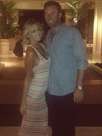 Paulina Gretzky and Dustin Johnson. (Via Instagram)