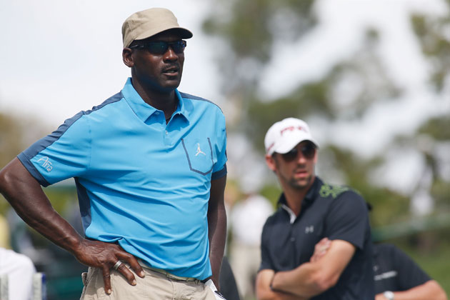 Michael Jordan and Michael Phelps. (Getty Images)