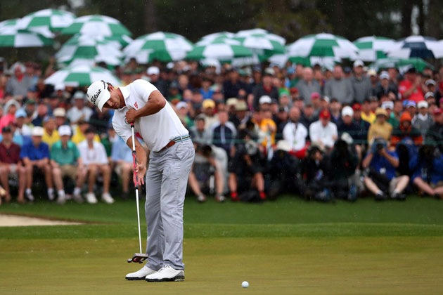 Adam Scott anchor-putted his way to a green jacket. (Getty Images)