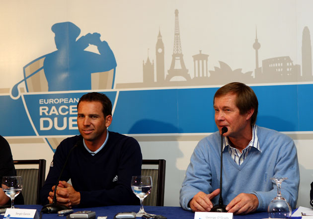 Sergio Garcia and George O'Grady in 2008. (Getty Images)