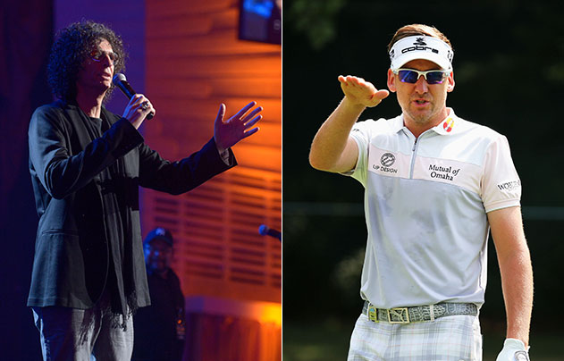 Howard Stern, Ian Poulter. (Getty Images)