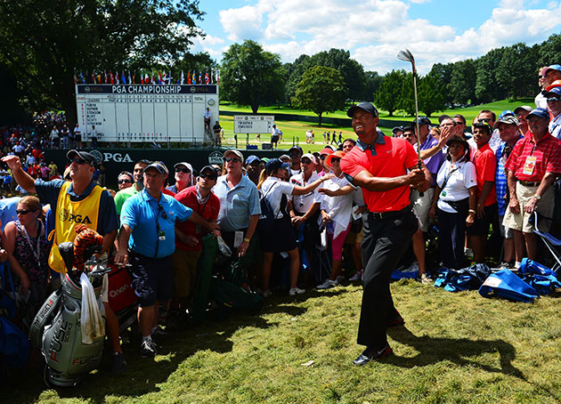 Tiger Woods at the PGA Championship. (Getty Images)