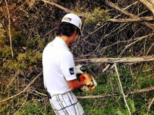 Kevin Na and his chainsaw / PGATour