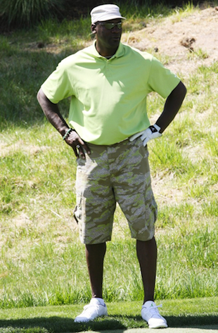 Michael Jordan wearing cargo shorts, though not the pair in question. (Getty Images)
