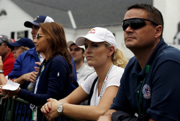 Vonn watches Friday's second-round action. (Scott Halleran/Getty Images)