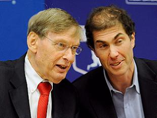 Commissioner Bud Selig and MLBPA director Michael Weiner from last November. (Getty)