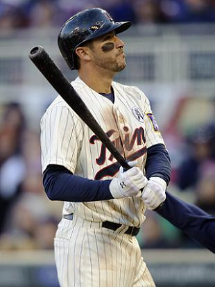 Trevor Plouffe swings his standard bat. (Getty(