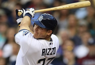 Anthony Rizzo struggled in his first big league season, batting .141. (AP)