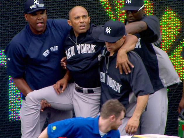 Thankfully this will not be our final lasting image of Mariano Rivera on a baseball field. (AP)
