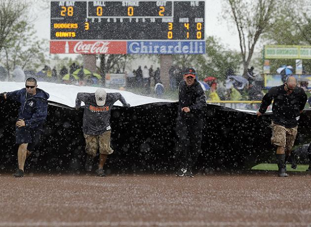 The rains were falling all day in Arizona. (AP)