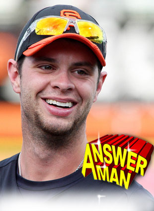 Answer Man: Brandon Belt talks belts, giraffes, Roger Federer and Carrie Underwood's hair