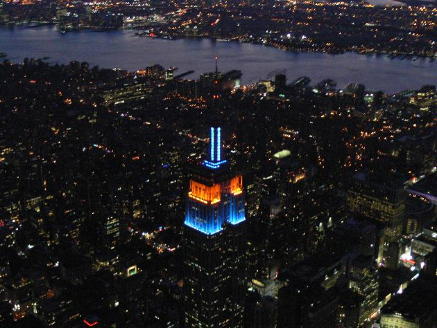 Empire State Building lit up in honor of Gary Carter. (Tom Kaminski)