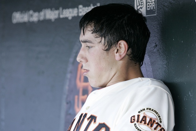 Tim Lincecum during his rookie year in 2007. (AP)