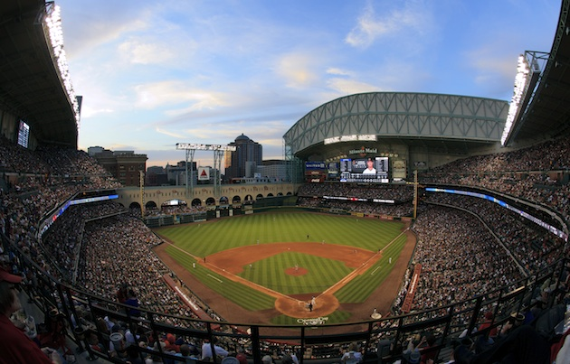 Minute Maid Park on opening day 2012. (Getty Images)