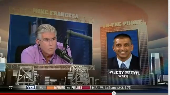 WFAN radio host Mike Francesa falls asleep during Yankees update (Video)