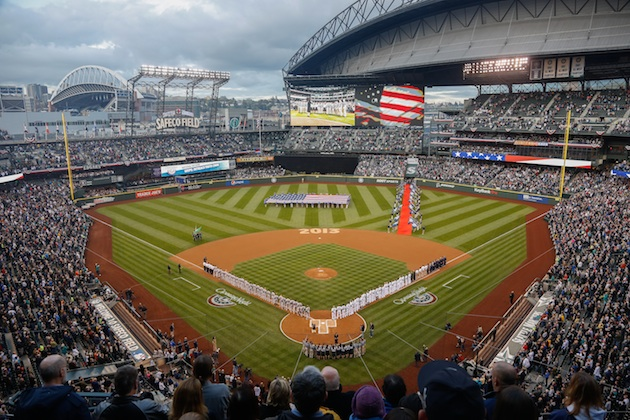 Safeco Field on opening day 2013 (Getty Images)