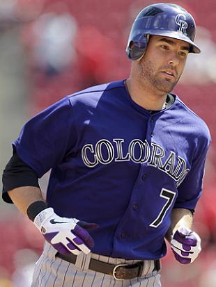 The Oakland A's acquired outfielder Seth Smith from Colorado. He's a career .257 hitter away from Coors Field. (AP)