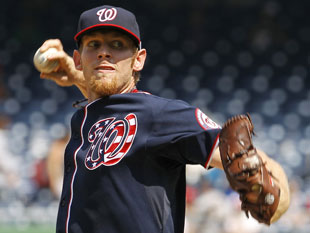 Stephen Strasburg and the Washington Nationals will be featured on ESPN twice. (AP)