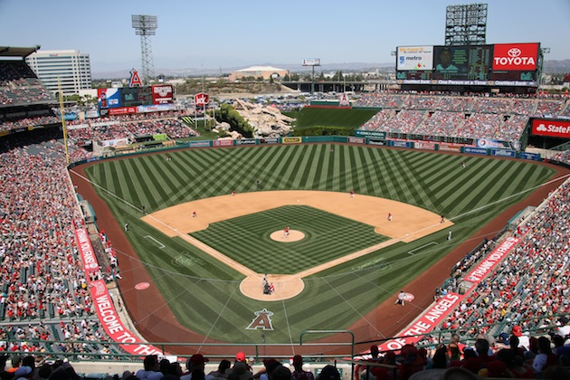Angel Stadium in April 2013 (Getty Images)