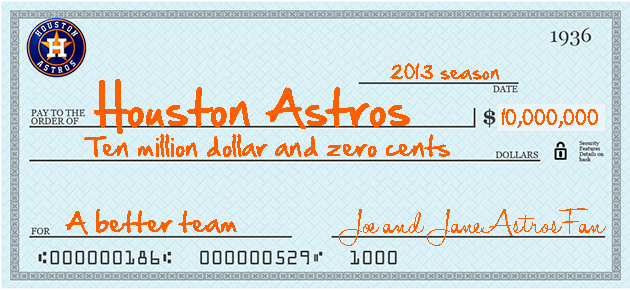 Houston Astros owner: Fans can 'write a check for $10 million' if they want a better roster