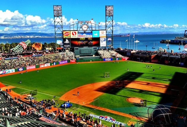 AT&T Park before Game 1 of the World Series. (Kevin Kaduk)