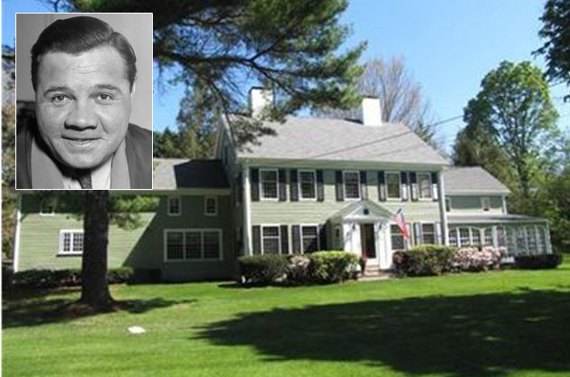 Babe Ruth lived in this Sudbury, Mass., house from 1922 to 1926. (Coldwell Banker/Getty)