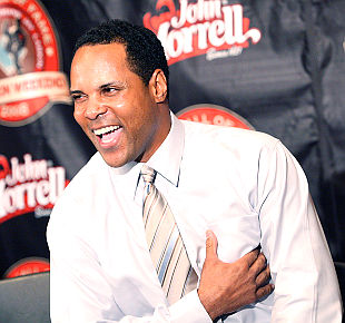 Longtime Cincinnati Reds shortstop Barry Larkin could hear from the Hall of Fame on Monday afternoon. (AP)