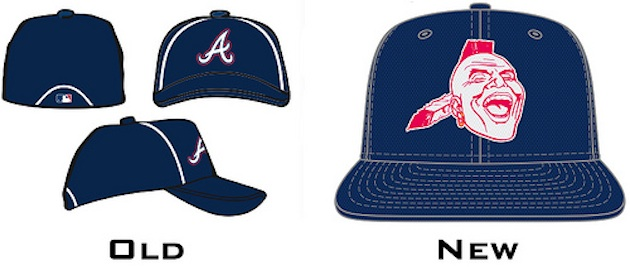 The Braves' new batting practice cap for 2013 (Uni Watch)