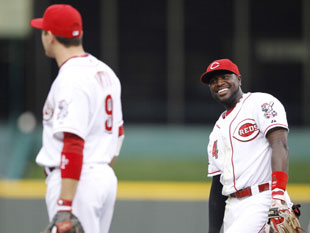 Joey Votto and Brandon Phillips (Getty)