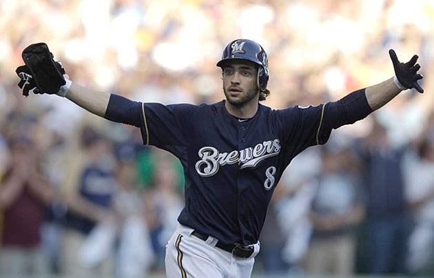 Milwaukee's Ryan Braun batted .500 with five extra-base hits against Arizona in the NL playoffs. (AP)