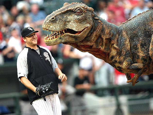 Mark Buehrle pitched with the White Sox for so long, he can remember when these critters walked the Earth. (Getty)