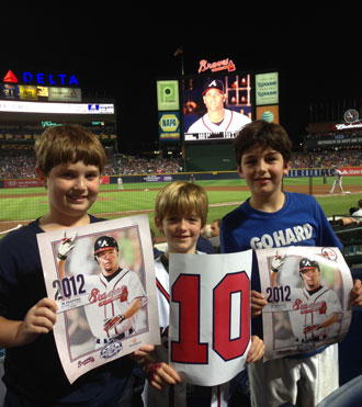 Braves fans not even born when Chipper won his MVP cheered him on. (Photo via Yahoo! Sports)