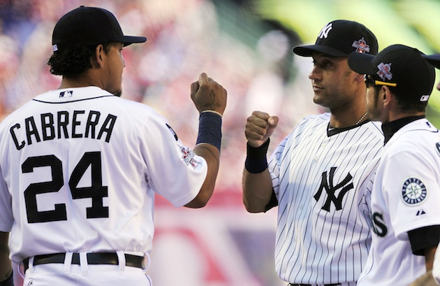 Miguel Cabrera, Derek Jeter and Ichiro (back when he was a Mariner) (AP)