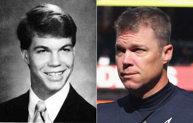Chipper Jones — Then and now  (Getty Images)