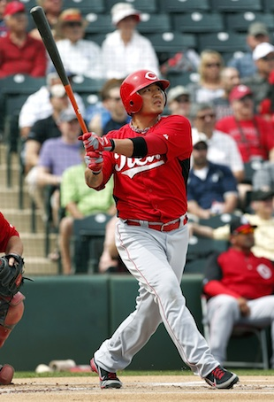 Shin-Soo Choo is part of an upgraded Reds outfield. (AP)