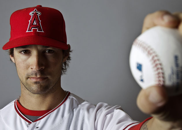 C.J. Wilson signed a $77.5 million contract with the Angels in the offseason. (AP)