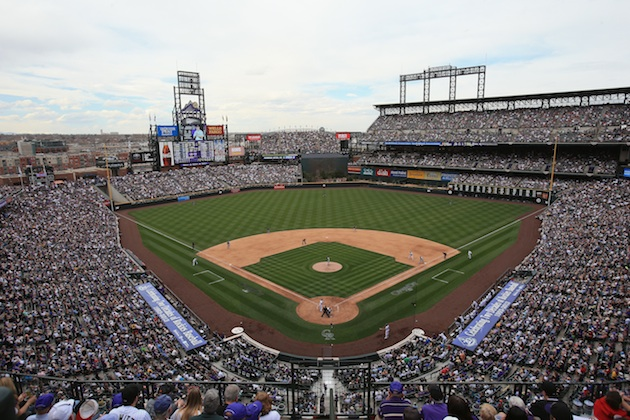 Coors Field on opening day 2013 (Getty Images)