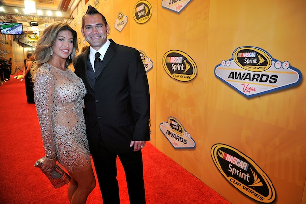 Johnny Damon and his wife Michelle (Getty Images)
