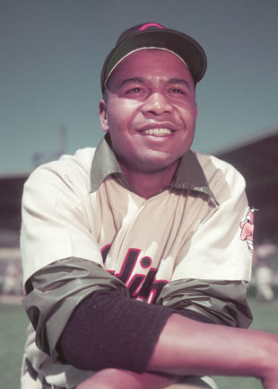 Larry Doby was the first African-American player in the American League. (AP)