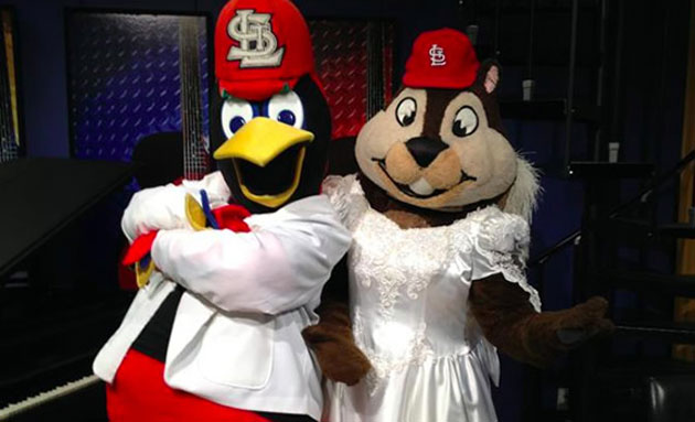 Fredbird and Rally Squirrel