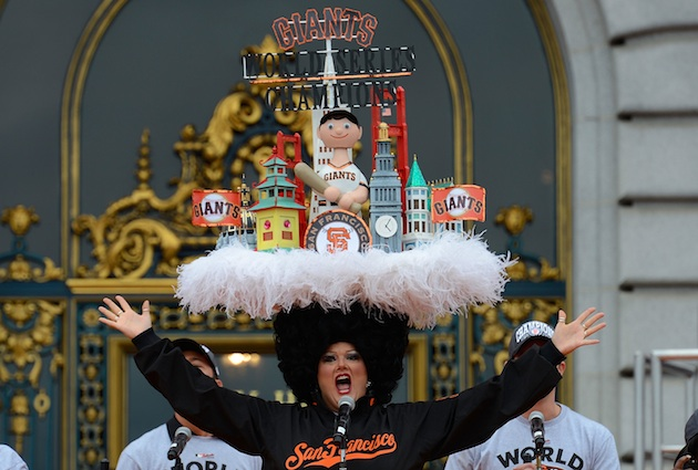 How did you celebrate the Giants' second title in three years? (Getty)